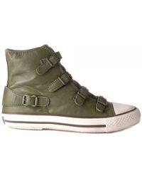 Ash Virgin Leather Buckle Trainers - Lyst