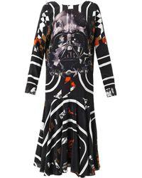 Preen Vader Darth Vader-print Silk Dress - Lyst