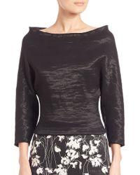 Donna Karan New York | Elbow-sleeve Bateau Top | Lyst