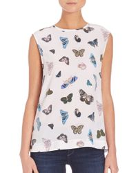 Equipment | Kyle Butterfly Blouse | Lyst