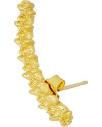 Jennifer Fisher Curved Vertebrae Gold-plated Earrings - Lyst