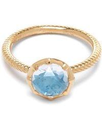 Larkspur & Hawk - Gold Bella Blue Quartz Stacking Ring - Lyst