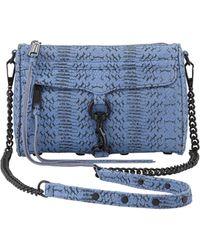 Rebecca Minkoff Snakeprint Mini Mac Crossbody Bag Twilight Sky - Lyst