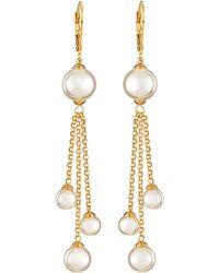 Majorica Pearl Fringe Earrings - Lyst