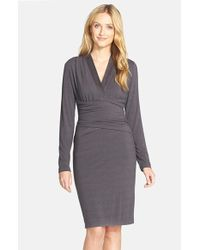 20c37ffc NYDJ - Ruched Jersey Sheath Dress - Lyst
