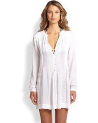 ViX Catarina Pintuck Tunic white - Lyst