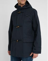 Gloverall Navy Short Waxed Raincoat blue - Lyst