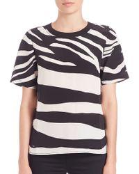 Diane von Furstenberg | Dayle Zebra-print Top | Lyst