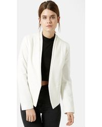 Topshop 'Poppy' Double Collar Blazer - Lyst