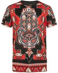 Jaded - Red Hamsa T-shirt* - Lyst