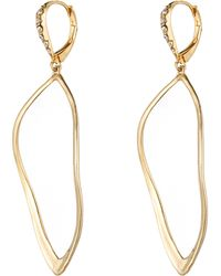 Alexis Bittar Hyperion Gold Aura Lever Back Earring - Lyst