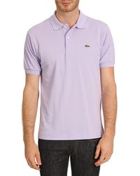 Lacoste Classic Polo in Plain Lavender Fabric - Lyst