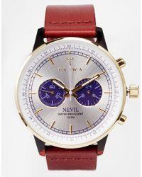 Triwa Nevil Leather Strap Watch Neac109 - Lyst