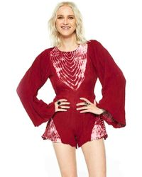 Jen's Pirate Booty Zuni Playsuit In Deep Red/White red - Lyst