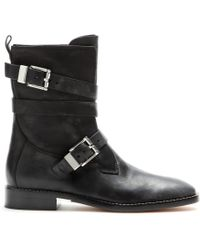 Alexander Wang Louise Leather Biker Boots - Lyst
