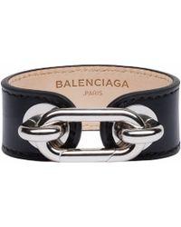 Balenciaga Black Maillon Bangle - Lyst