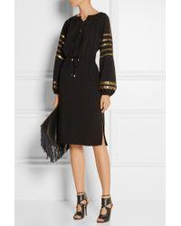 Altuzarra Arabella Sequin-embellished Crepe Dress - Lyst