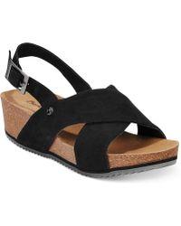 BEARPAW - Renee Footbed Sandals - Lyst