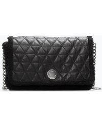 Zara Quilted Leather Messenger Bag - Lyst