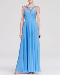JS Collections Gown - Embellished Yoke Chiffon - Lyst