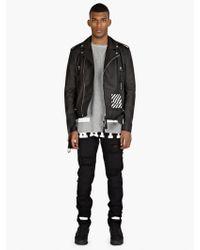 Off-white Men'S Black Logo Printed Jeans - Lyst