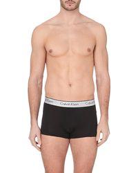 Calvin Klein Branded Textured Trunks - For Men - Lyst