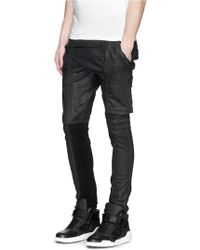 DRKSHDW by Rick Owens 'Memphis' Flap Waxed Skinny Jeans black - Lyst