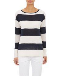 Vince Mixed-Stitch Stripe Sweater - Lyst