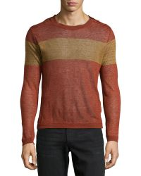 Diesel Alcor Banded Crewneck Sweater - Lyst