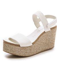 Pedro Garcia Dulce Wedge Sandals - White - Lyst