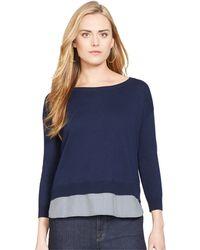 Lauren by Ralph Lauren Petite Layered-Look Sweater - Lyst