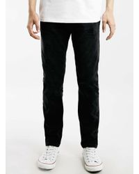 Topman Black Regular Slim Fit Jeans - Lyst