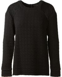 Thakoon Black Wool Pullover - Lyst