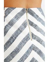 Cope - Striped Back-zip Mini Skirt - Lyst