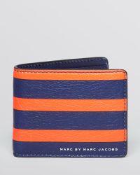 Marc By Marc Jacobs Martin Stripe Bi-fold Wallet - Lyst