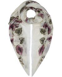 Alexander McQueen Big Skull Floral Pashmina - Lyst