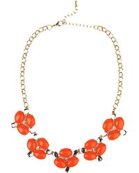 Akira Dayglo Cabochon Necklace & Cabochon Earring Set - Lyst