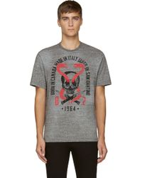 DSquared2 Grey Snake and Skull T-Shirt - Lyst