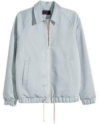H&M Shirt Jacket gray - Lyst