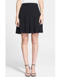 Diane von Furstenberg 'Gemma' Pleated A-Line Skirt - Lyst