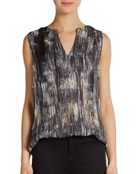 Halston Heritage Abstract Print Top - Lyst