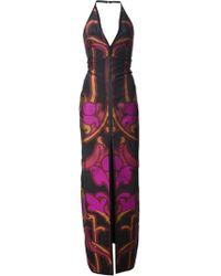 Gucci Printed Halter Evening Dress - Lyst