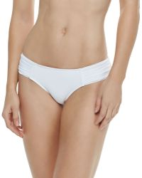 Seafolly Goddess Pleated-side Hipster Bottom - Lyst