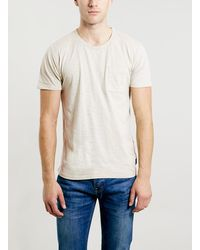 Topman Selected Homme Grey T-shirt - Lyst