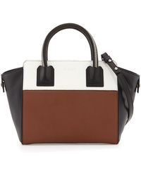Milly Logan Colorblock Leather Tote Bag - Lyst