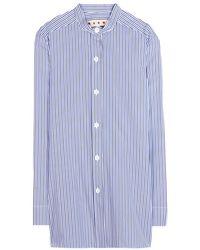 Marni Striped Cotton Shirt - Lyst