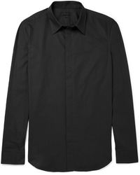 Calvin Klein Slim Fit Cotton Shirt - Lyst