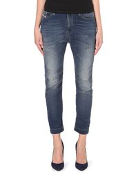 Diesel Eazee Tapered Dropped Crotch Jeans Blue - Lyst