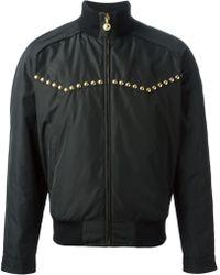 Versace Studded Bomber Jacket - Lyst