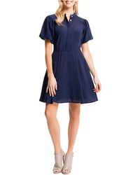 Cynthia Steffe Fit-And-Flare Shirtdress blue - Lyst